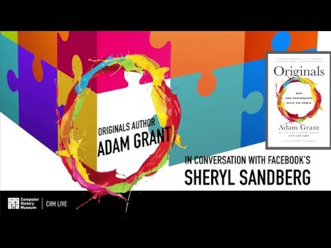 """Originals"" Author Adam Grant in Conversation with Facebook's Sheryl Sandberg"