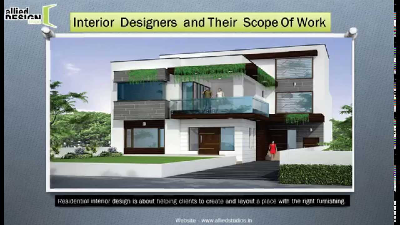 Interior Designers And Their Scope Of Work Youtube
