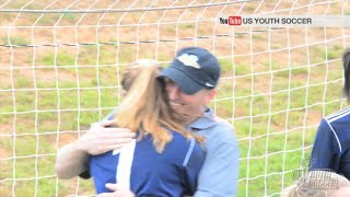 *Tears* Army dad surprises daughter at soccer game!