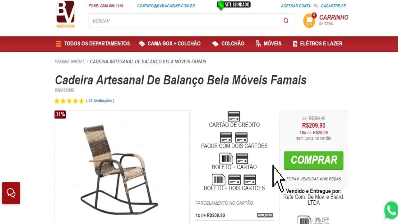 92eecd969 Cadeira Artesanal De Balanço Bela Móveis Famais | Cadeiras de Varanda