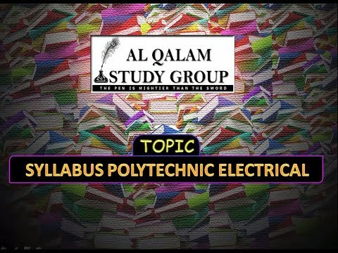 SYLLABUS POLYTECHNIC ELECTRICAL ENGINEERING'