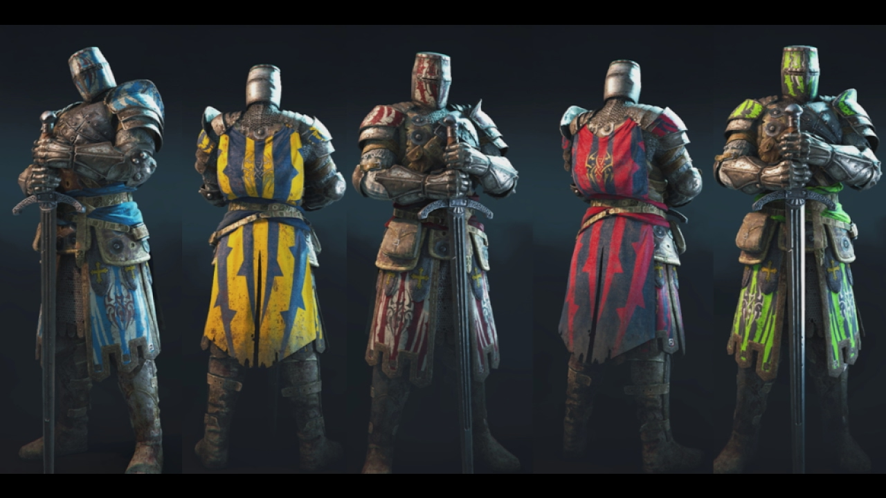FOR HONOR - Warden - Blood Spider Outfit - All Colour Variations - YouTube