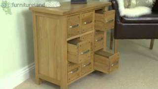 Newark Solid Oak 9 Drawer Storage Chest From Oak Furniture Land