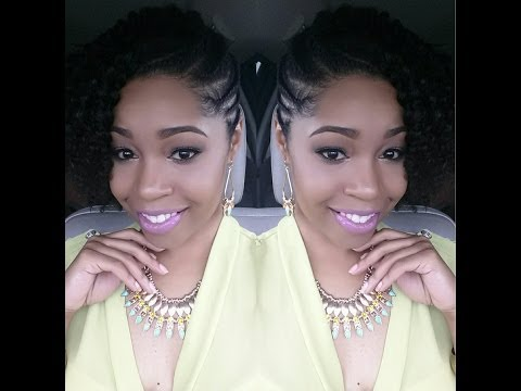 Flat-Twist Summer Hairstyle on Natural Hair