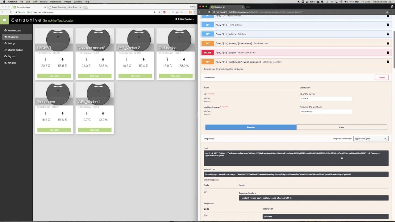 Sensohive API Service
