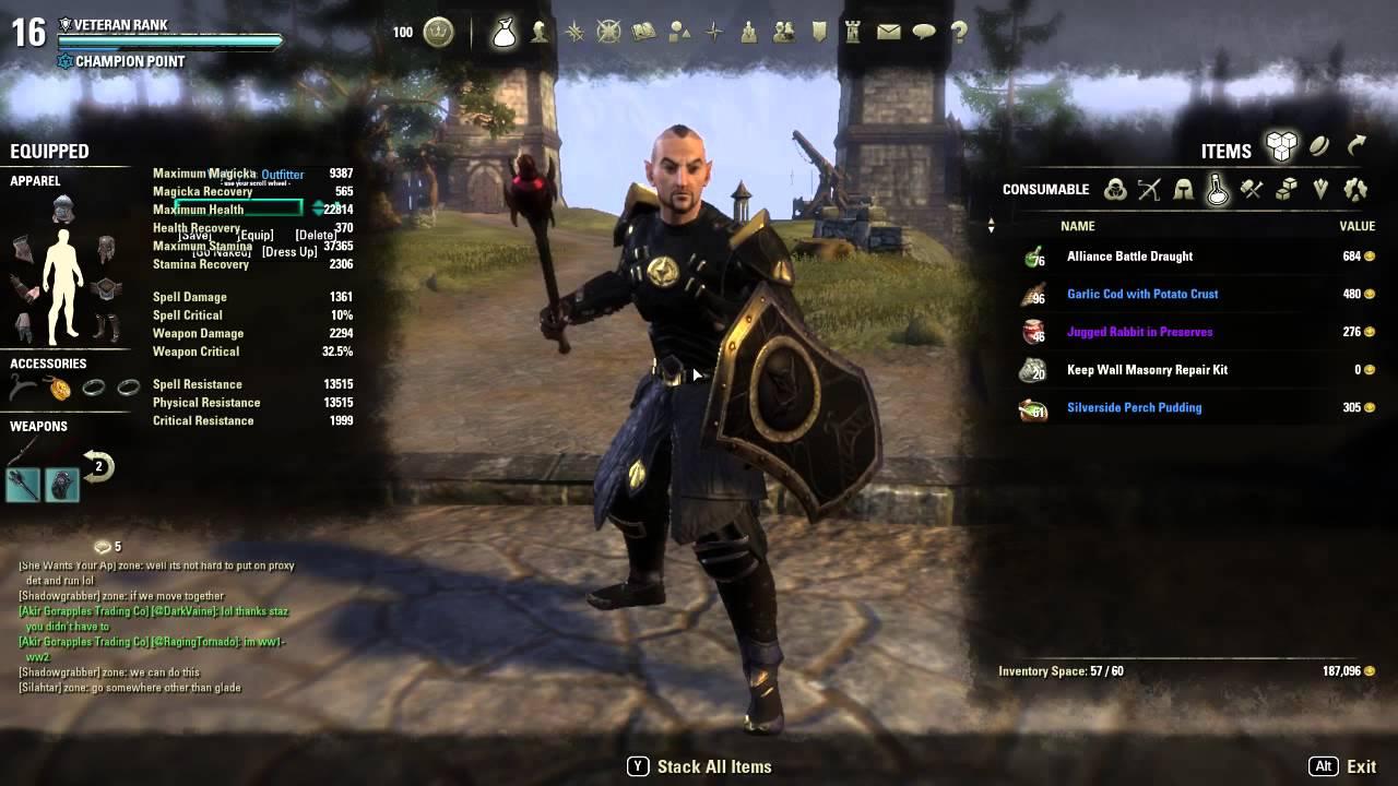 Stamina Sorcerer Build Pvp
