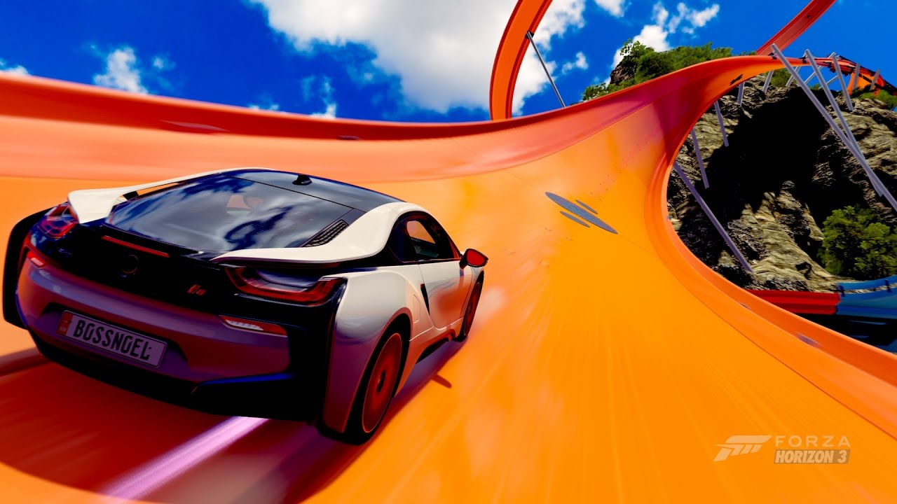Forza Horizon 3 Hot Wheels Bmw I8 Jurassic Rumble Youtube