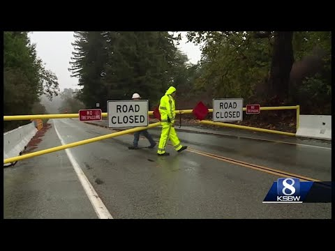 Hwy 1 closed in two places in Big Sur