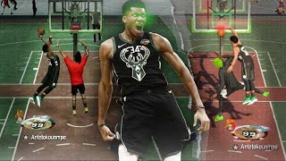 99 OVR GIANNIS ANTETOKOUNMPO is a FREAK in NBA2K19 - 99 OVR PLAYMAKING ATHLETIC FINISHER