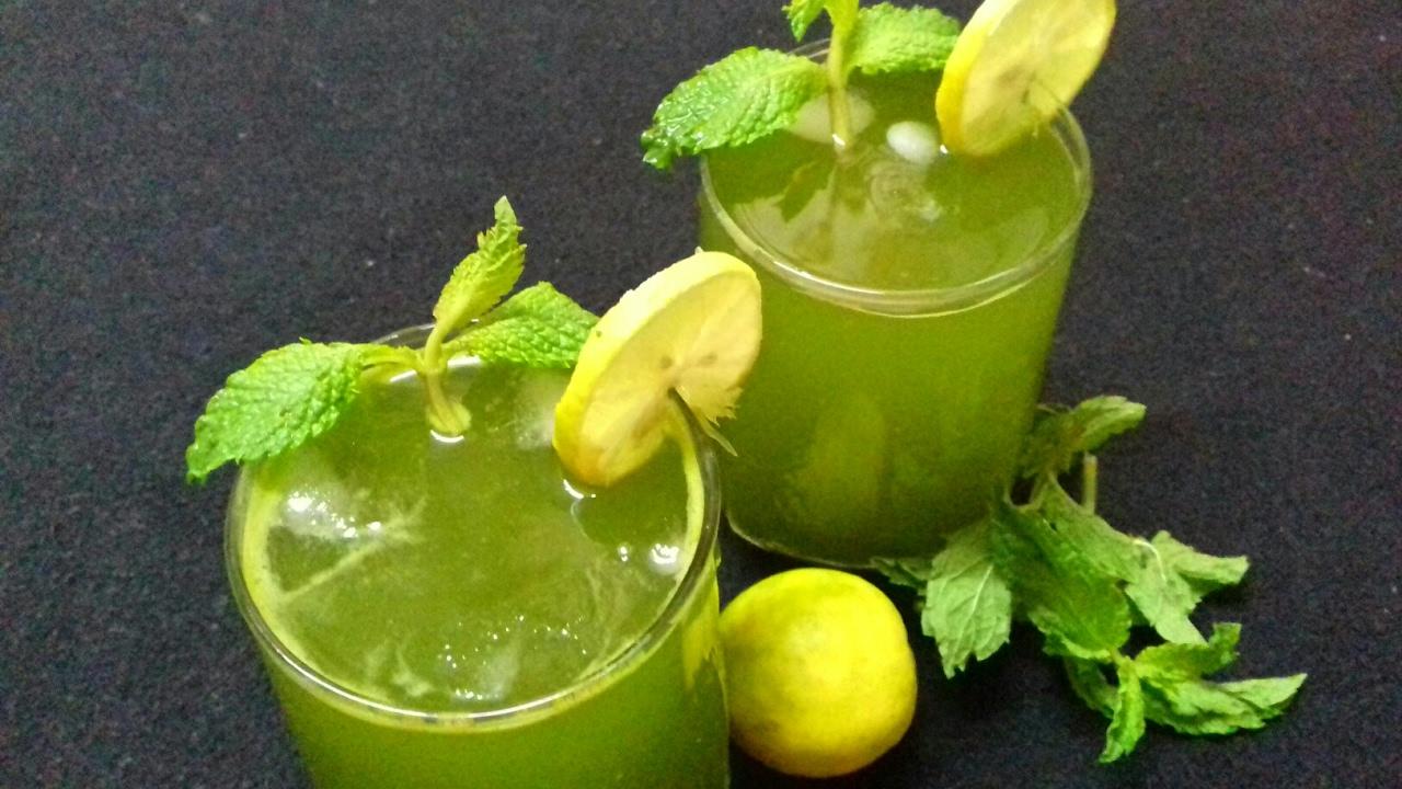 mint coriander juice | mint lemonade | pudina nimbu sharbat | summer drink  | pudina sharbat.