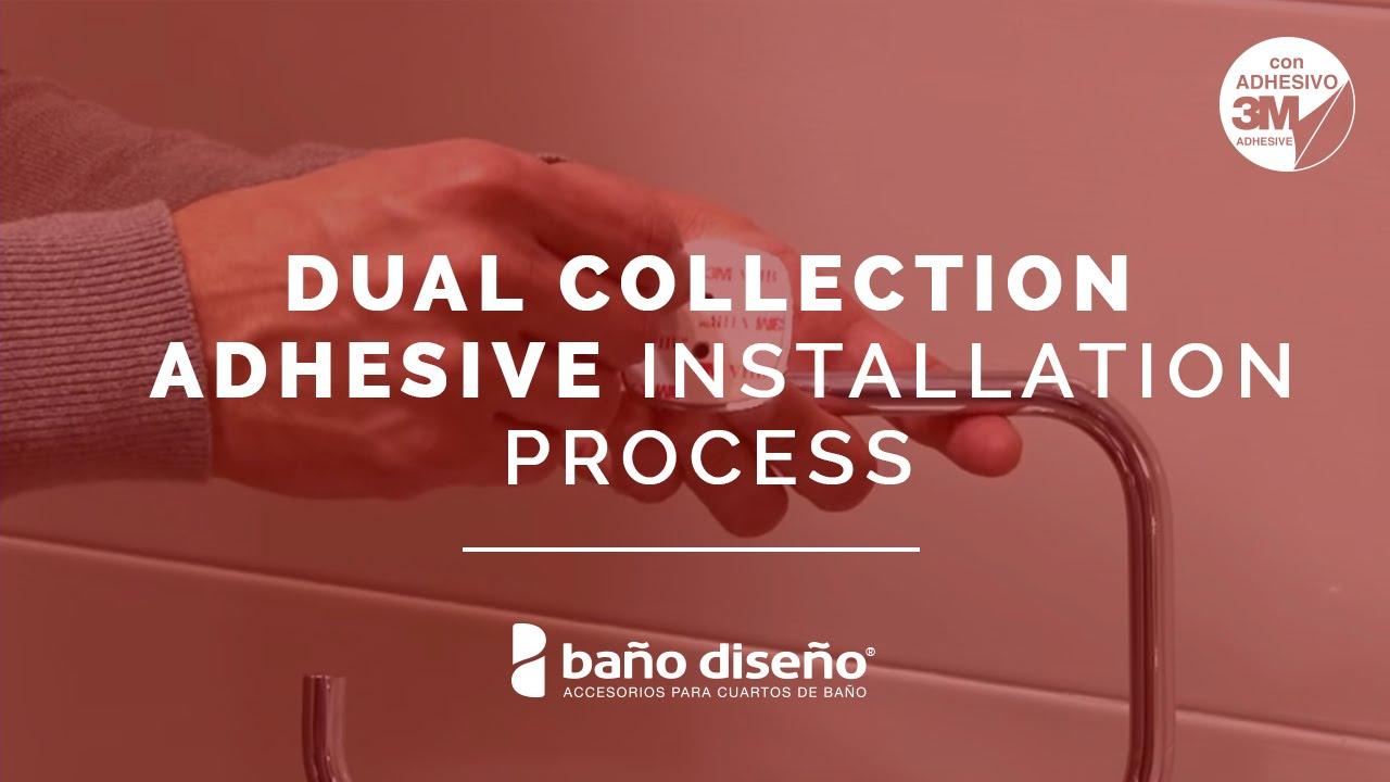 No drill bathroom accessories - How To Install Bath Accessories With No Drill Adhesive Dual Collection Ba O Dise O