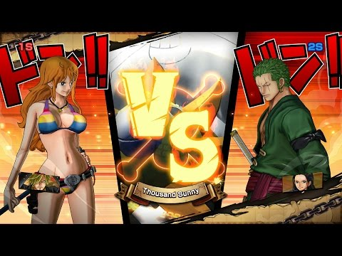 One Piece Burning Blood | Nami and Sanji vs Zoro and Robin -  BEST OF 5 | 2 Player Gameplay