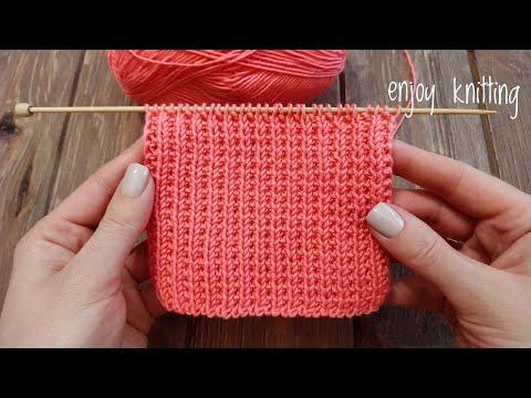 ПРОСТОЙ узор спицами для начинающих / Broken Rib Stitch