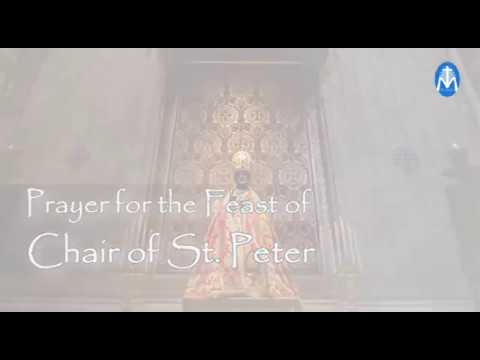 Prayer fo the Feast of Chair of St  Peter