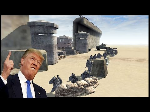 DEFENDING TRUMPS WALL 2.0 ~ Epic Border Patrol Battle - Men of War: Red Rising Mod