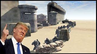 DEFENDING TRUMPS WALL 2.0 ~ Epic Border Patrol Battle - Men of War: Red Rising Mod