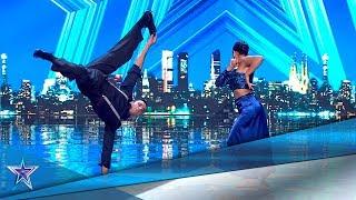 ¡Esta PAREJA ARGENTINA mezcla BREAKDANCE Y SALSA! | Audiciones 7 | Got Talent España 5 (2019)