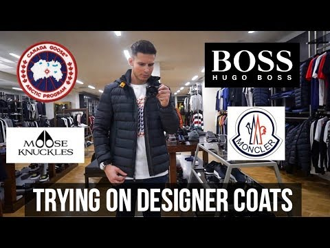 Designer Coat Try On Haul | Shopping Vlog (Canada Goose, Moncler, Hugo Boss)