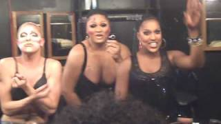 Drag Queens playing back stage at Studio 54 party