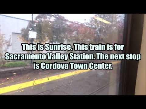 Riding Sacramento Light Rail from Historic Folsom to SAC Valley Station (FULL JOURNEY)