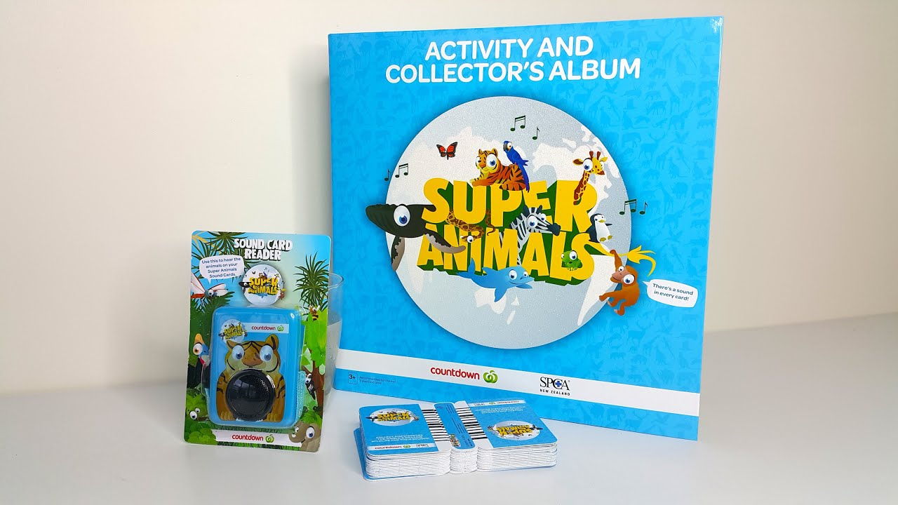 Super Animal Sound Card Book And Cards From Countdown