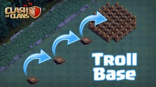 DEAD END TROLL !!! | PUSH TRAP FUN !! | CLASH OF CLANS