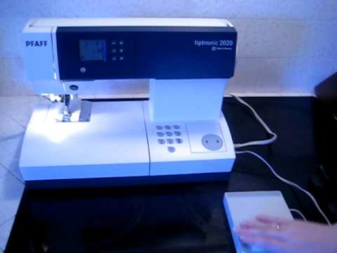 Top Rated Sewing Machines 2020.Pfaff Tiptronic 2020 Sewing Machine Shown Working