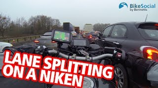 Can you filter / lane split on the Yamaha Niken?   Niken Diaries 2