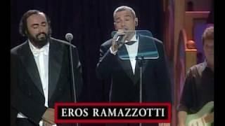Se bastasse una canzone (Si bastase una cancion). Luciano Pavarotti & Eros Ramazzotti HQ