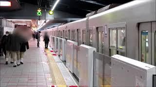 【乗降合図動画】新大阪駅 地下鉄御堂筋線 1番線、2番線共に駅員さんの立ち番あり 手で合図 ホームドア設置済み
