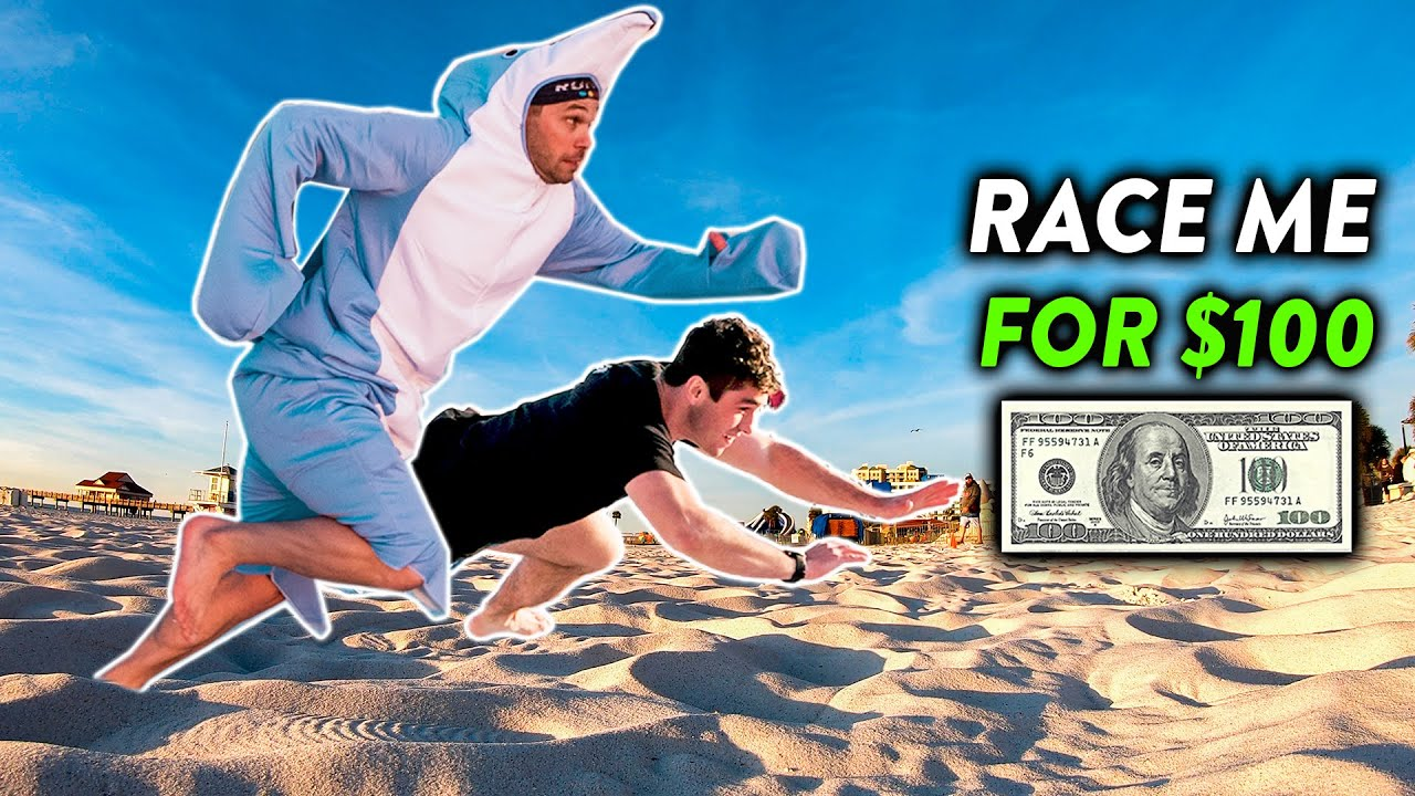 Olympic Runner Races Strangers for CASH MONEY!!