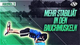 Mehr Stabilität in den Bauchmuskeln - Fussball