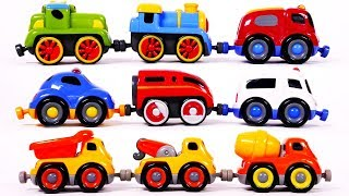 Learn Colors with Tailgate Train Toys for Children