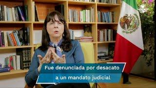 La Fiscalía General de la República investiga a la directora del Consejo Nacional de Ciencia y Tecnología, María Elena Álvarez-Buylla, quien fue denunciada desde hace más de un año por desacato a un mandato judicial