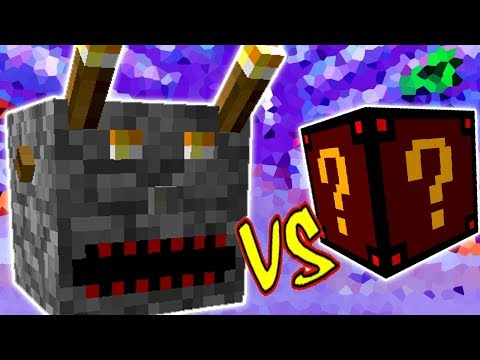 BLOCO DO MAL VS.  LUCKY BLOCK ASSUSTADOR (MINECRAFT LUCKY BLOCK CHALLENGE EVIL BLOCK)