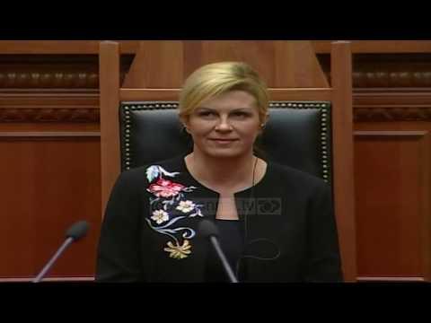 Presidentja kroate në Kuvend - Top Channel Albania - News - Lajme