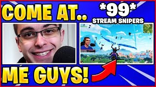 Nick Eh 30 Challenges 99 Stream Snipers To Kill Him *HILARIOUS*