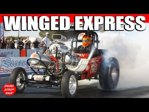 2012 Winged Express Fuel Altered Drag Racing Car March Meet Bakersfield  Famoso Raceway Video