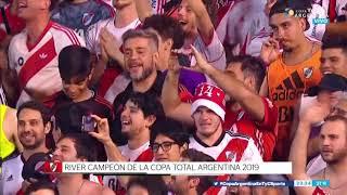 River levantó la Copa Argentina y se acordó de Boca en los festejos
