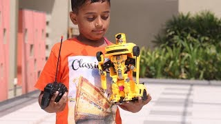Kids Pretend Pay With Toys Robot Cars | Mustang transformers rc car unboxing & review|video for kids