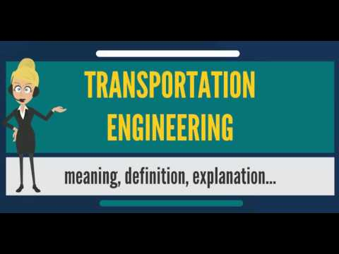 What is TRANSPORTATION ENGINEERING? What does TRANSPORTATION ENGINEERING mean?