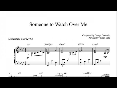 Sheet Music for Ballet Class - Someone To Watch Over Me - Adagio/Plié