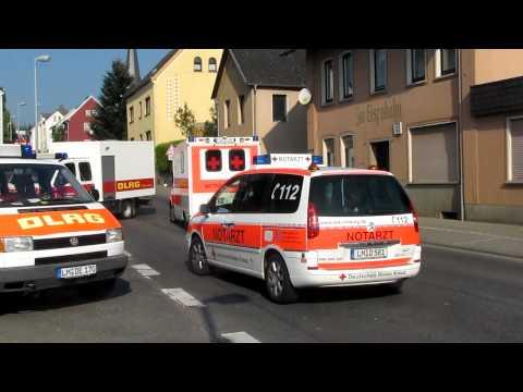 DRK Limburg RTW, NEF  + Feuerwehr Steinbach