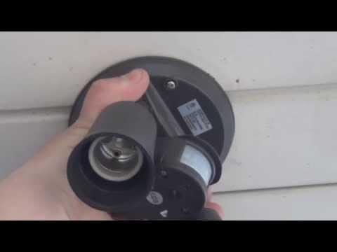 How to change a flood light fixture to a motion flood light fixture