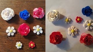 Clay flower tutorial /How to make rose with clay/Clay rose for the beginner.