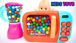 Microwave And Blender Toy Appliance Candy Surprise Toys For Kids | Kids Toys