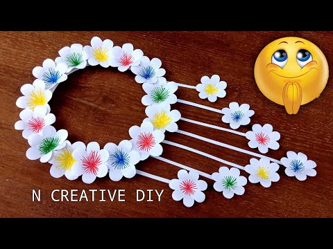 paper-flowers-wall-hangings-|-wall-hanging-craft-|-wall-decor-ideas-|-paper-crafts-easy-|-home-decor