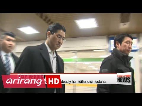 Court announces verdict on deadly humidifier disinfectants