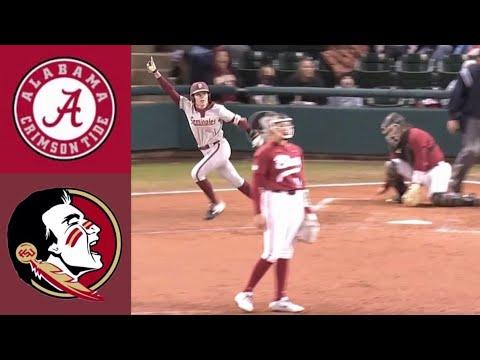 #1 Alabama Vs #8 Florida State (2/7/20) | 2020 College Softball Highlights