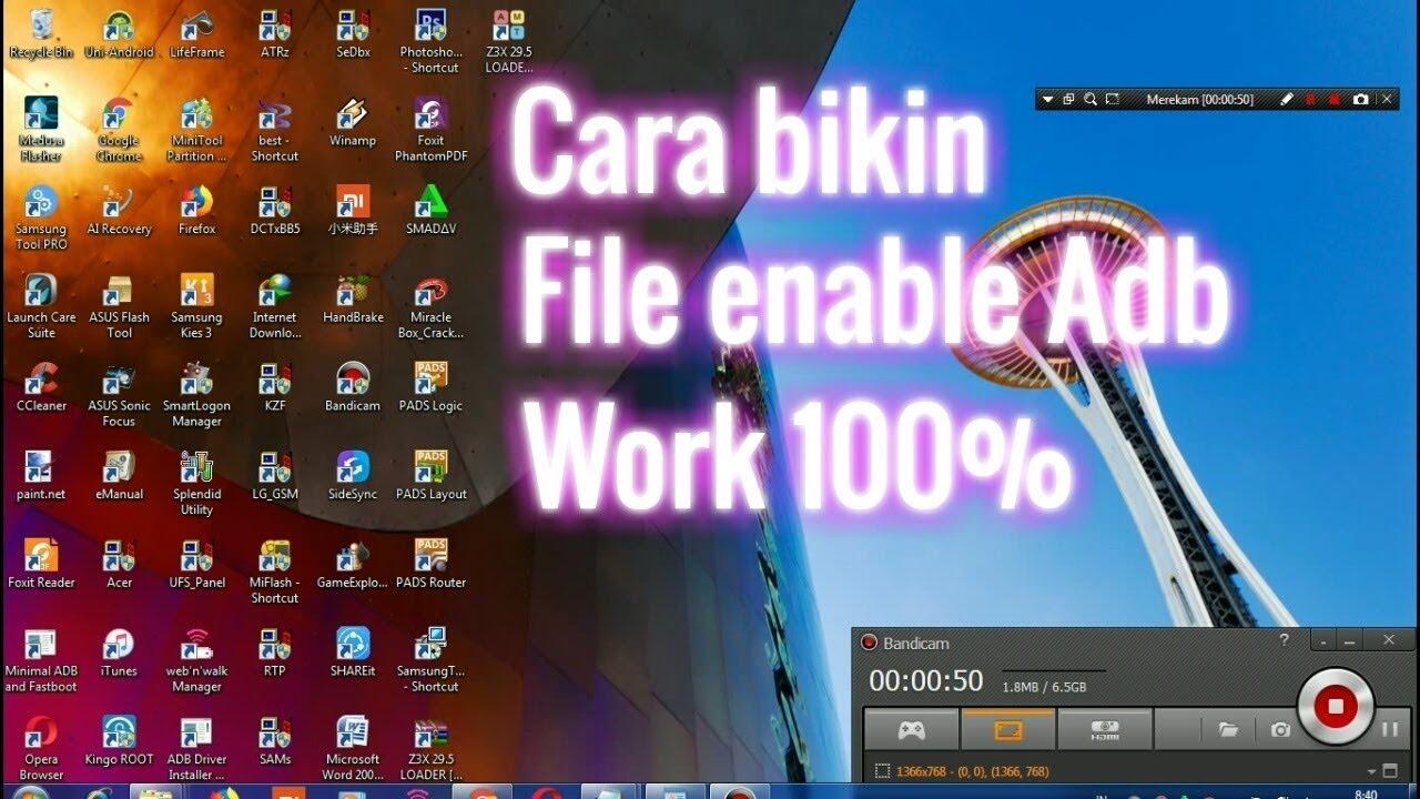 Cara bikin(create) file enable Adb samsung (2018)